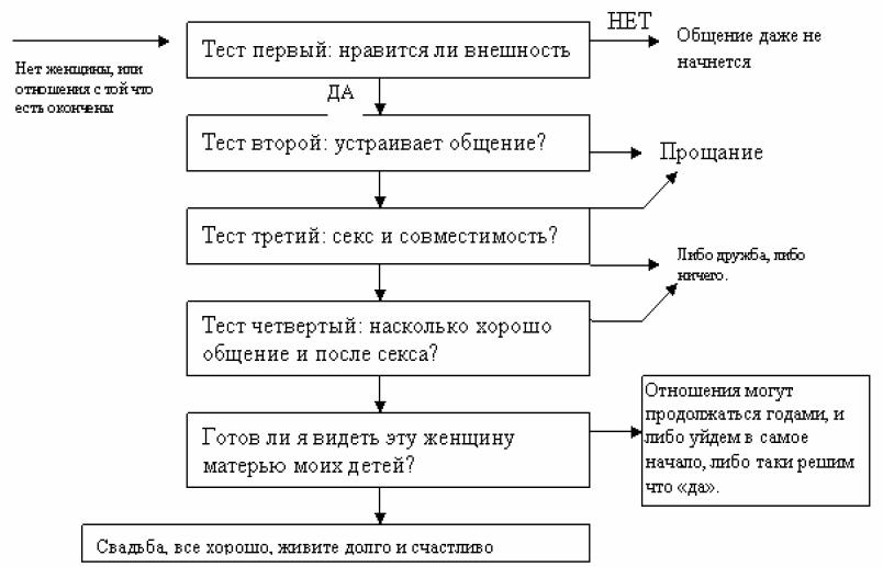 Модель мужской сексуальной привлекательности или теория ста баллов т100б
